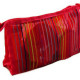 Rainbow stripes mesh makeup bag nylon mesh cosmetic bag Supplier